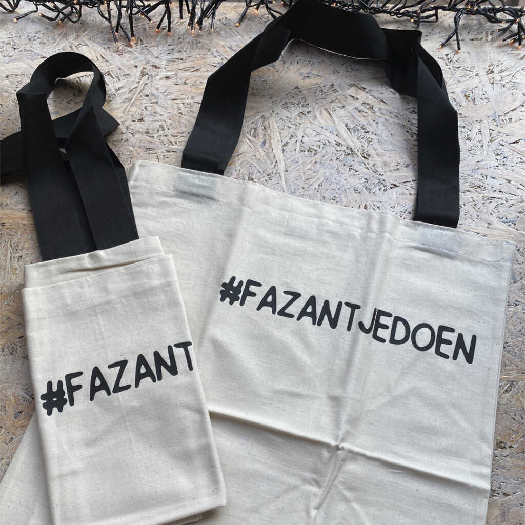 #FAZANTJEDOEN Tasje